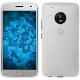 Silicone Case Moto G5 Plus matt white + protective foils