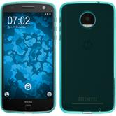 Silicone Case for Lenovo Moto Z Force transparent turquoise