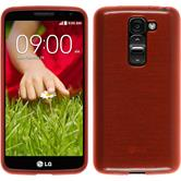 Silicone Case for LG G2 mini brushed red