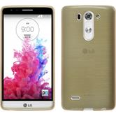 Silicone Case for LG G3 S brushed gold