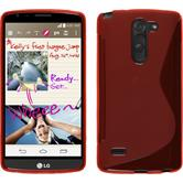 Silicone Case for LG G3 Stylus S-Style red