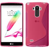 Silicone Case for LG G4 Stylus S-Style hot pink