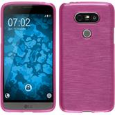 Silicone Case for LG G5 brushed hot pink