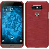 Silicone Case for LG G5 brushed red