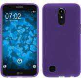 Silicone Case K10 2017 matt purple + protective foils