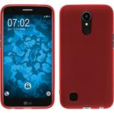 Silicone Case K10 2017 matt red + protective foils
