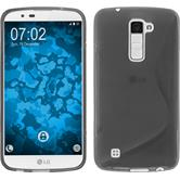Silicone Case for LG K10 S-Style gray