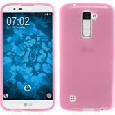 Silicone Case for LG K10 transparent pink
