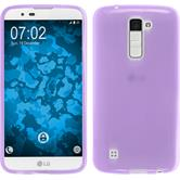 Silicone Case for LG K10 transparent purple