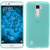 Silicone Case for LG K10 transparent turquoise