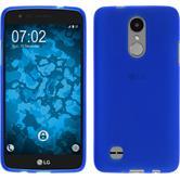 Silicone Case K4 2017 matt blue + protective foils