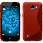 Silicone Case for LG K4 S-Style red