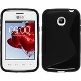 Silicone Case for LG L20 S-Style black