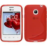 Silicone Case for LG L20 S-Style red