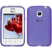 Silicone Case for LG L20 X-Style purple