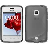 Silicone Case for LG L30 S-Style gray