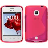 Silicone Case for LG L30 S-Style hot pink