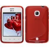 Silicone Case for LG L30 S-Style red