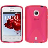 Silicone Case for LG L30 X-Style hot pink