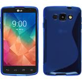 Silicone Case for LG L60 S-Style blue