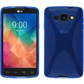 Silicone Case for LG L60 X-Style blue