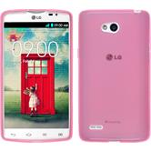 Silicone Case for LG L80 Dual transparent pink