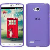 Silicone Case for LG L80 Dual transparent purple
