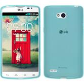 Silicone Case for LG L80 Dual transparent turquoise