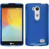 Silicone Case for LG L Fino S-Style blue