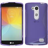 Silicone Case for LG L Fino S-Style purple