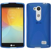 Silicone Case for LG L Fino X-Style blue