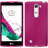 Silicone Case for LG Magna brushed hot pink