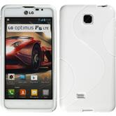 Silicone Case for LG Optimus F5 S-Style white