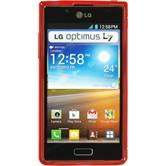 Silicone Case for LG Optimus L7 S-Style red