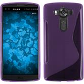 Silicone Case for LG V10 S-Style purple