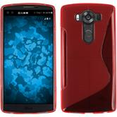 Silicone Case for LG V10 S-Style red