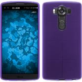 Silicone Case for LG V10 transparent purple