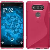 Silicone Case for LG V20 S-Style hot pink