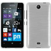 Silicone Case for Microsoft Lumia 430 Dual brushed white