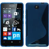 Silicone Case for Microsoft Lumia 430 Dual S-Style blue
