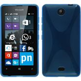 Silicone Case for Microsoft Lumia 430 Dual X-Style blue