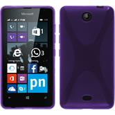 Silicone Case for Microsoft Lumia 430 Dual X-Style purple