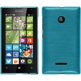 Silicone Case for Microsoft Lumia 435 brushed blue