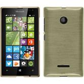 Silicone Case for Microsoft Lumia 435 brushed gold