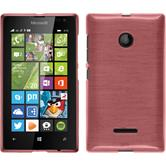 Silicone Case for Microsoft Lumia 435 brushed pink