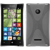 Silicone Case for Microsoft Lumia 435 X-Style transparent