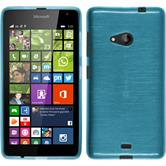 Silicone Case for Microsoft Lumia 535 brushed blue