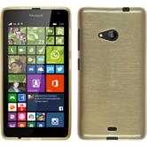 Silicone Case for Microsoft Lumia 535 brushed gold