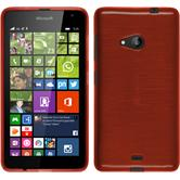 Silicone Case for Microsoft Lumia 535 brushed red