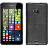Silicone Case for Microsoft Lumia 535 brushed silver
